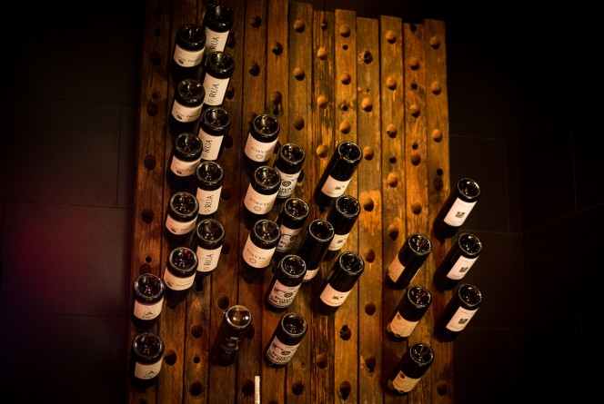 Delicious wine selection